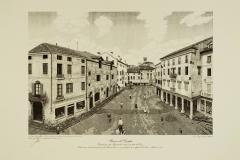 Bassano: veduta di piazzotto Montevecchio