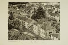 Bassano: veduta di palazzo Bonaguro e della chiesa di San Donato