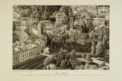 Bassano: veduta con i resti del castello degli Ezzelini