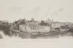 Bassano: veduta grande presa dalla riva occidentale del fiume Brenta