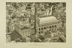 Veduta parziale del centro storico verso Monte Berico